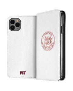 MIT White Logo iPhone 11 Pro Max Folio Case