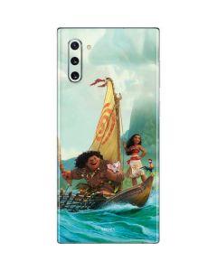 Moana and Maui Set Sail Galaxy Note 10 Skin