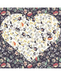 Floral Heart Generic Laptop Skin