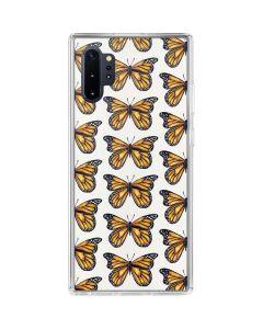 Monarch Butterflies Galaxy Note 10 Plus Clear Case