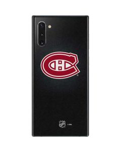 Montreal Canadiens Black Background Galaxy Note 10 Skin