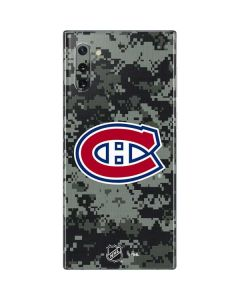 Montreal Canadiens Camo Galaxy Note 10 Skin