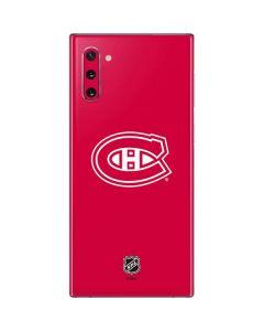 Montreal Canadiens Color Pop Galaxy Note 10 Skin