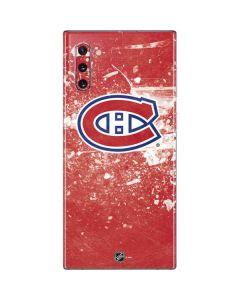 Montreal Canadiens Frozen Galaxy Note 10 Skin