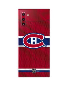 Montreal Canadiens Home Jersey Galaxy Note 10 Skin