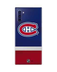 Montreal Canadiens Jersey Galaxy Note 10 Skin