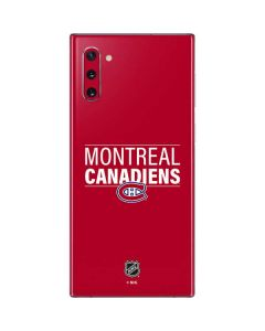 Montreal Canadiens Lineup Galaxy Note 10 Skin
