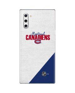 Montreal Canadiens Script Galaxy Note 10 Skin