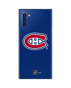 Montreal Canadiens Solid Background Galaxy Note 10 Skin