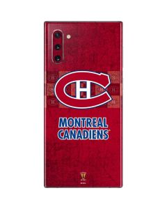 Montreal Canadiens Vintage Galaxy Note 10 Skin