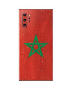 Morocco Flag Distressed Galaxy Note 10 Plus Skin