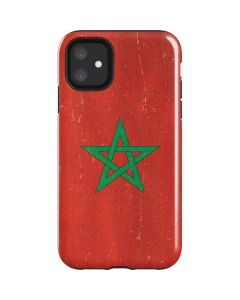 Morocco Flag Distressed iPhone 11 Impact Case