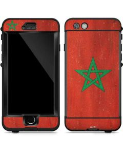 Morocco Flag Distressed LifeProof Nuud iPhone Skin