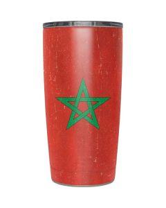 Morocco Flag Distressed Yeti 20oz Tumbler Skin