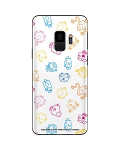 Mr Men Little Miss Characters Outline Galaxy S9 Skin