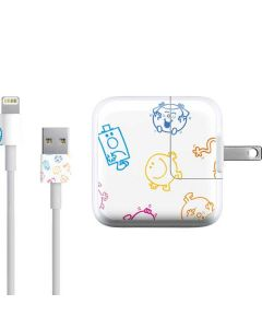 Mr Men Little Miss Characters Outline iPad Charger (10W USB) Skin