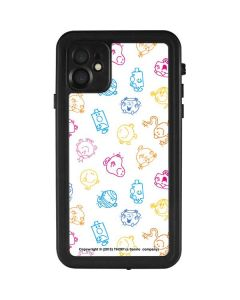 Mr Men Little Miss Characters Outline iPhone 11 Waterproof Case