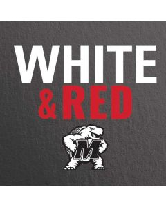 Maryland Terrapins White and Red Apple TV Skin