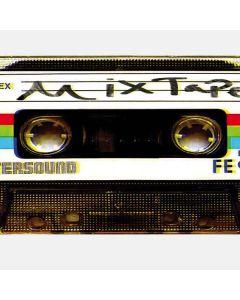 Old Mixtape PlayStation 4 Gold Wireless Headset Skin
