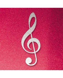 Pink Glitter Music Note Galaxy S10 Plus Skin