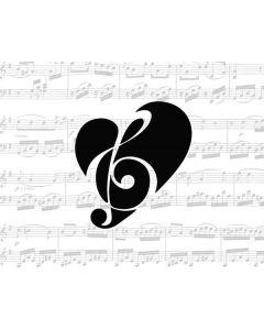 BW Musical Notes Generic Laptop Skin