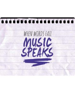 When Words Fail Music Speaks Galaxy Book Keyboard Folio 12in Skin