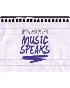 When Words Fail Music Speaks HP Pavilion Skin