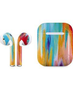 Multicolor Brush Stroke Apple AirPods Skin