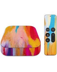 Multicolor Brush Stroke Apple TV Skin