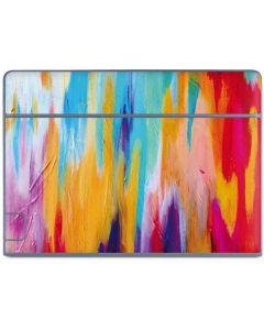 Multicolor Brush Stroke Galaxy Book Keyboard Folio 10.6in Skin
