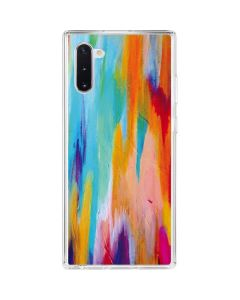 Multicolor Brush Stroke Galaxy Note 10 Clear Case
