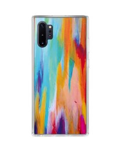 Multicolor Brush Stroke Galaxy Note 10 Plus Clear Case