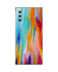 Multicolor Brush Stroke Galaxy Note 10 Skin