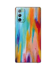 Multicolor Brush Stroke Galaxy Note20 5G Skin