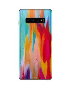 Multicolor Brush Stroke Galaxy S10 Plus Skin