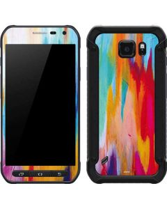 Multicolor Brush Stroke Galaxy S6 Active Skin