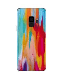 Multicolor Brush Stroke Galaxy S9 Skin