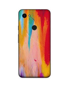 Multicolor Brush Stroke Google Pixel 3a XL Skin