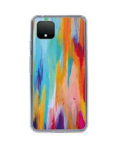 Multicolor Brush Stroke Google Pixel 4 XL Clear Case
