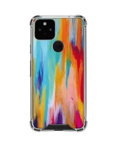 Multicolor Brush Stroke Google Pixel 5 Clear Case