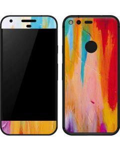 Multicolor Brush Stroke Google Pixel XL Skin