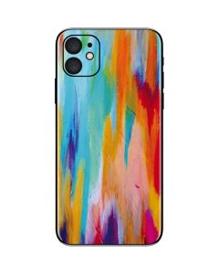 Multicolor Brush Stroke iPhone 11 Skin