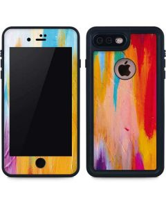 Multicolor Brush Stroke iPhone 8 Plus Waterproof Case