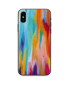 Multicolor Brush Stroke iPhone XS Skin