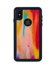 Multicolor Brush Stroke iPhone XS Waterproof Case