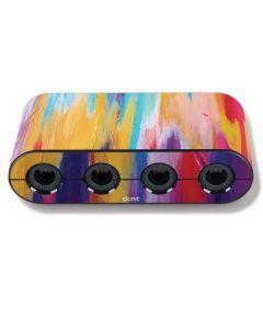 Multicolor Brush Stroke Nintendo GameCube Controller Adapter Skin