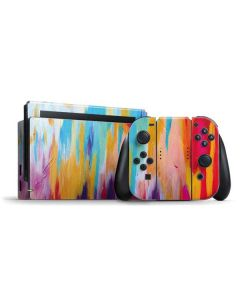 Multicolor Brush Stroke Nintendo Switch Bundle Skin