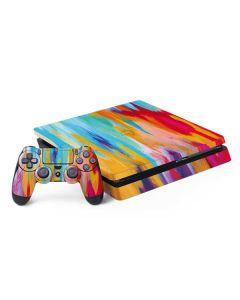 Multicolor Brush Stroke PS4 Slim Bundle Skin