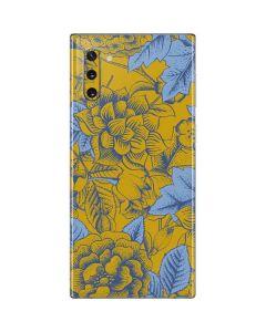 Mustard Yellow Floral Print Galaxy Note 10 Skin