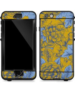Mustard Yellow Floral Print LifeProof Nuud iPhone Skin